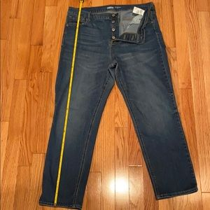 Old Navy High Rise Button Fly Ankle Jean